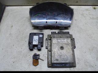 Εγκέφαλος Κινητήρα Immobilizer Σετ Ford Transit 2.2 TDCi 110PS (QVFA) 2006-10