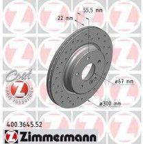 Σετ Δισκόπλακες πίσω τρυπητες ZIMMERMANN Z 3645.52