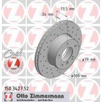 Σετ Δισκόπλακες εμπρός τρυπητες ZIMMERMANN Z 3427.52