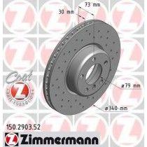 Σετ Δισκόπλακες εμπρός τρυπητες ZIMMERMANN Z 2903.52
