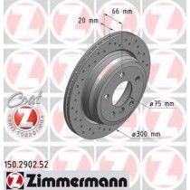 Σετ Δισκόπλακες πίσω τρυπητες ZIMMERMANN Z 2902.52
