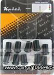 Σετ βίδες φέρινκ με λαστιχοπαξιμάδια για ζελατίνα μοτοσυκλέτας KEITI Μαύρες