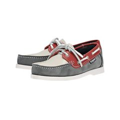 Kayak Loafers κρι / Λευκό / Κόκκινο