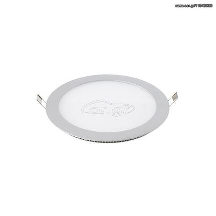 Atman Στρογγυλό LED Panel 12W Χωνευτό Inox , LPL-01051