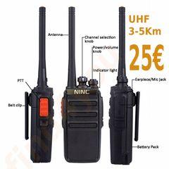 Ασύρματος NINC 5watt, 16 κανάλια, εως 5Km εμβέλεια!!!  μόνο 25€ το τεμάχιο