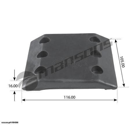 Λάστιχο Πεδίλου Jost (Κάτω) για JSK37c JSK37CZ [Τιμή ΜΕ ΦΠΑ]
