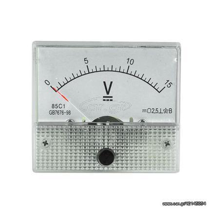 Βολτόμετρο αναλογικό DC 0-15V