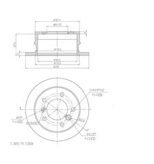 Δισκόπλακα ΠΙΣΩ - MERCEDES SPRINTER 901-902 VW LT [ΤΙΜΗ ΝΕΤΗ]