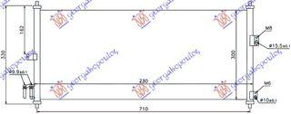 Ψυγείο A/C (Εξωτερικό) NISSAN ALMERA Liftback / 5dr 2002 - 2006 ( N16 ) 1.5  ( QG15DE  ) (90 hp ) Βενζίνη #018406410
