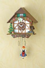 Ρολόι εκκρεμές Kuckulino με αλπικό σπιτάκι 15cm ΚΩΔ.2006SQ--- www.CuckooClock.gr ---
