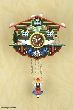 Ρολόι εκκρεμές Kuckulino με αλπικό σπιτάκι 14cm ΚΩΔ.2003SQ--- www.CuckooClock.gr ---