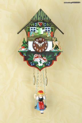 Ρολόι εκκρεμές Kuckulino με αλπικό σπιτάκι 17cm ΚΩΔ.2004SQ--- www.CuckooClock.gr ---