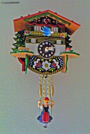 Ρολόι εκκρεμές με αλπικό σπιτάκι Κωδ:57SQ --- www.CuckooClock.gr ---