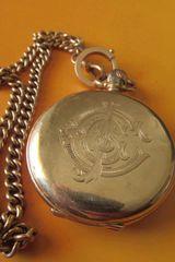 Xρυσο ROLEX τσεπης του 1928 14k ALD Dennison Watch Case.Co.LTD