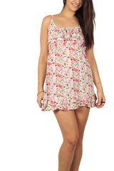Super μίνι φόρεμα εμπριμέ με βολάν - ds-20138