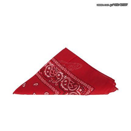 Μπαντάνα κόκκινη με vintage πριντ - 13297-rd