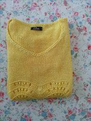 Μπλούζα Γυναικεία πλεκτή χρώματος κίτρινου. νουμερο 1.