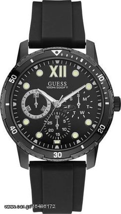 GUESS Multifunction Black Rubber Strap W1174G2