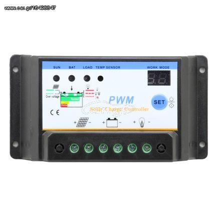 Ρυθμιστής Φόρτισης PWM LED S30I 30Αh 12/24V IP30
