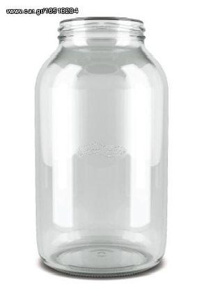 Stab 2036-48 Γυάλινα Βάζα Φ100mm Χωρητικότητας 3lt (Σετ 48 Τεμαχίων)