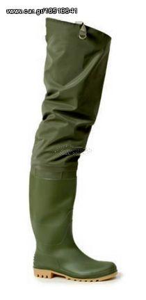 Ecopro S259-1-41 Αδιάβροχη Πράσινη Γαλότσα Μηρού PVC (Νούμερο 41)