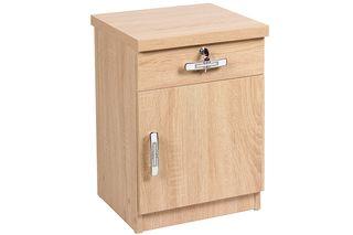 Κομοδίνο ξύλινο 38Χ35Χ55,5 εκ. με συρτάρι και ντουλάπι χρ. φυσικό - KESKOR 1668