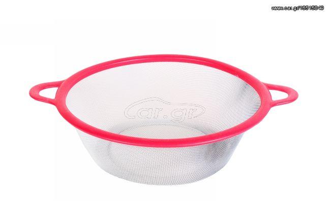 Σουρωτήρι Φ22,5Χ7,5 εκ. με πλαστικό στεφάνι χρ. ροζ - KESKOR 21111-1