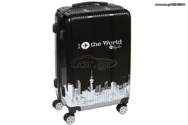 Βαλίτσα - τρόλεϊ πλαστική 43,5Χ26Χ67 εκ. με 4 ρόδες σχ. WORLD BLACK - KESKOR 4014102