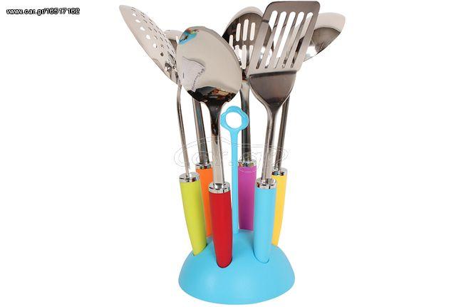 Σετ εργαλεία κουζίνας τεμ. 6 με βάση χρ. σιέλ
