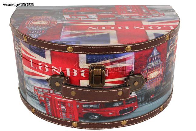 Νεσεσέρ - κουτί αποθήκευσης με επένδυση PU 32Χ22,5Χ15 εκ. σχ. LONDON BUS