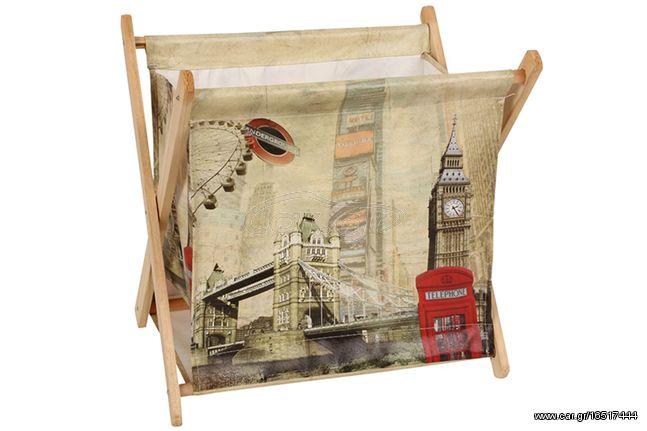 Εφημεριδοθήκη ξύλινη πτυσσόμενη 33Χ25Χ32 εκ. σχ. LONDON BRIDGE