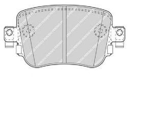Ferodo FDB4485  Σετ Τακακια Πισω VW-GROUP-14-