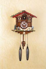 Ρολόι κούκος με χειροποίητη παράσταση αλπικού σπιτιού, με τη Χάιντι & τον Πέτερ Κωδ:446Q - www.CuckooClock.gr -