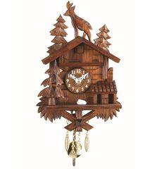ΡολόιKuckulino με αναπαράσταση αλπικού σπιτιού έλατα, ελάφι και εκκρεμές. Κωδ:2028PQ -- CuckooClock.gr ---