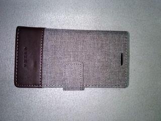 ΘΗΚΗ Wallet γκρι καφε (Xperia XZ1 Compact)