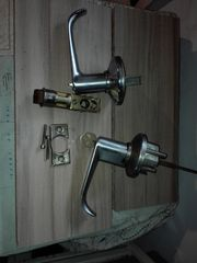 Πόμολο Κλειδαριά ασφαλείας υπνοδωματίου γραφείου ινοξ