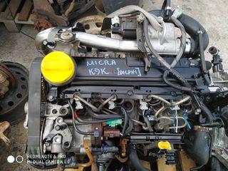 Κινητήρας Nissan Micra K9K 1.5 Diesel 2002-2010(με μίζα πίσω)