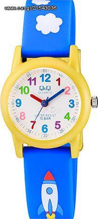 Q & Q Ρολόι παιδικό μπλε καουτσούκ λουράκι VR99J003Y