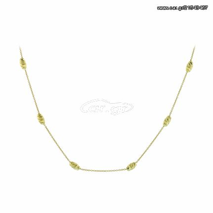Ortaxidis Κολιέ Ortaxidis Χρυσό 14 Καράτια με Μπίλιες oro287