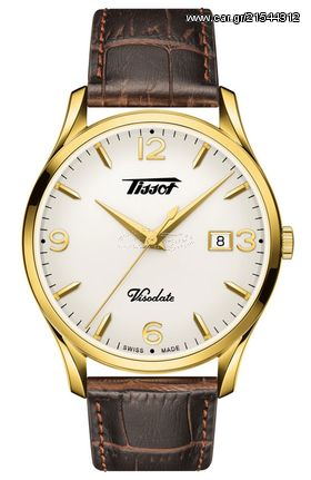 Tissot TISSOT Heritage Visodate Brown Leather Strap T1184103627700