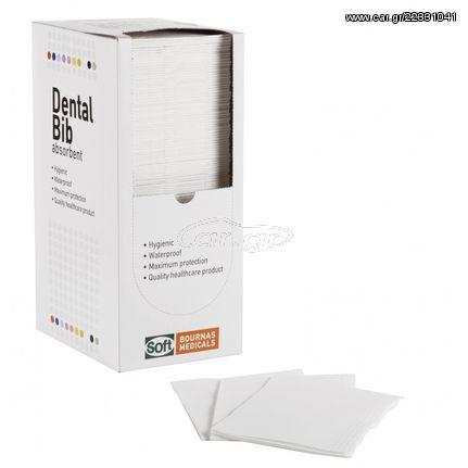 Οδοντιατρική πετσέτα Λευκή - 1ply + 1ply