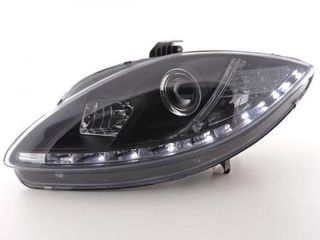 ΦΩΤΑ ΗΜΕΡΑΣ Daylight headlights with LED DRL look Seat Leon type 1P Yr. 05-09 black WWW.EAUTOSHOP.GR