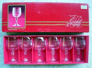 Σετ των 6 CRISTAL D'ARQUES Κρυστάλλινα Ποτήρια Λικέρ