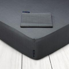 Σεντόνι King Size με λάστιχο 180Χ200+35 POLO CLUB Solid Premium 2203 G.P.C. ΓΚΡΙ