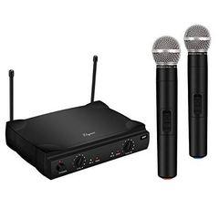 PROFESSIONAL 2 WIRELESS MICROPHONES Double σύστημα Karaoke