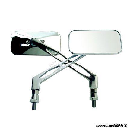 Καθρέπτης αριστερός ορθογώνιος Chaft RE13 νίκελ