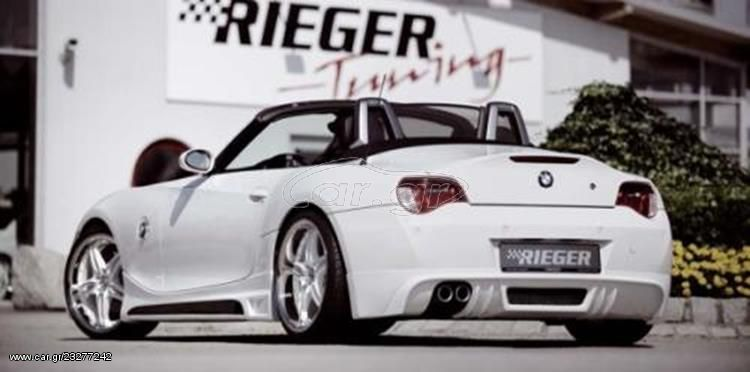 RIEGER Πίσω Σπόιλερ carbon look for double end pipe left 2x90mm BMW Z4