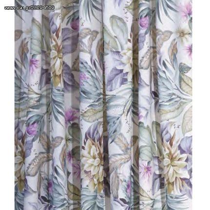 Κουρτίνα με Τρέσα 140x270 Πάναμα Digital Print - Anna Riska Des Tropical