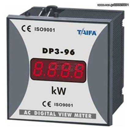 Ψηφιακό όργανο πίνακος - κιλοβατόμετρο 96Χ96 TAIFA DP3-96-P | 501-969940100