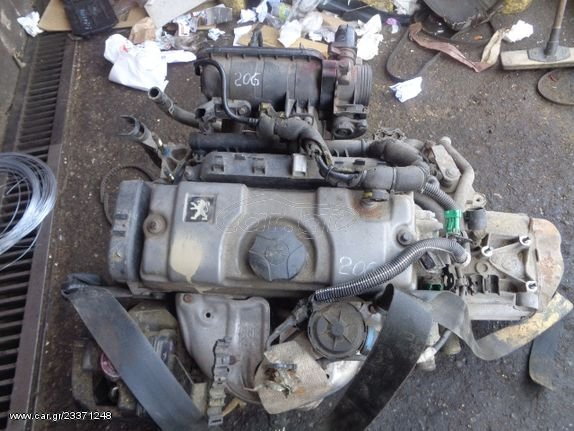 Κινητήρας Κορμός - Καπάκι (HFX) για PEUGEOT 206 (2002 - 2009) 1100 (HFX) (HFZ) Petrol 60   Kiparissis - The King of Parts